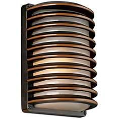 "John Timberland® Bronze Grid 10"" High Outdoor Wall Light"