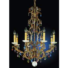 Schonbek Genesis Eight Light Crystal Chandelier