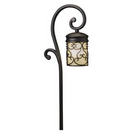 Almeria Textured Black Finish Outdoor Path Light