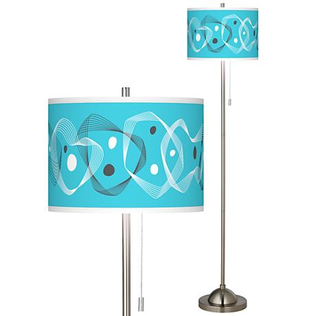 spirocraft brushed nickel pull chain floor lamp 99185 15m53 www. Black Bedroom Furniture Sets. Home Design Ideas