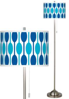 Jet Set Brushed Nickel Pull Chain Floor Lamp