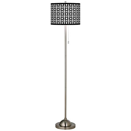 Matrix Brushed Nickel Pull Chain Floor Lamp