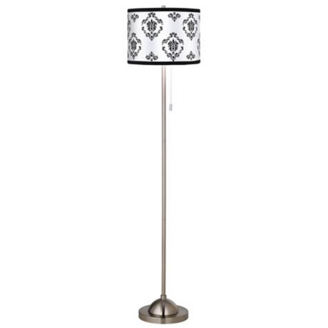 Giclee French Crest Brushed Nickel Pull Chain Floor Lamp