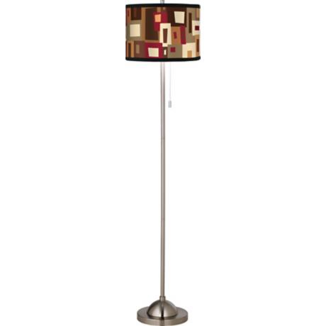 Earth Palette Giclee Floor Lamp