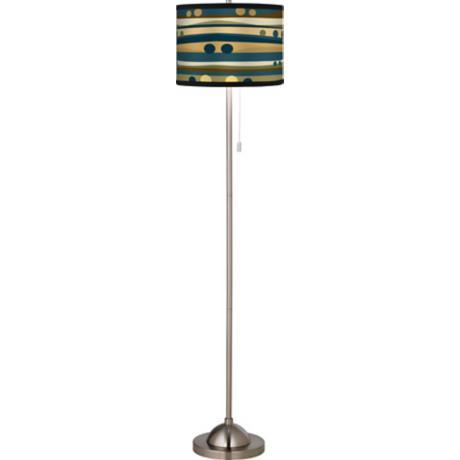Dots and Waves Giclee Floor Lamp