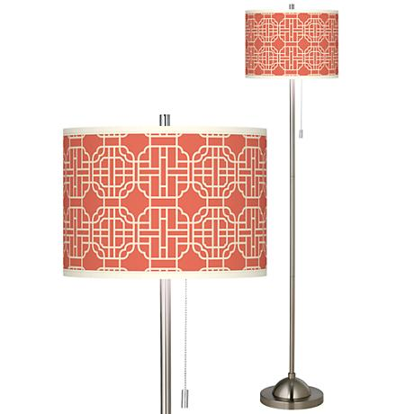 mandarin brushed nickel pull chain floor lamp 99185 8n661 www. Black Bedroom Furniture Sets. Home Design Ideas