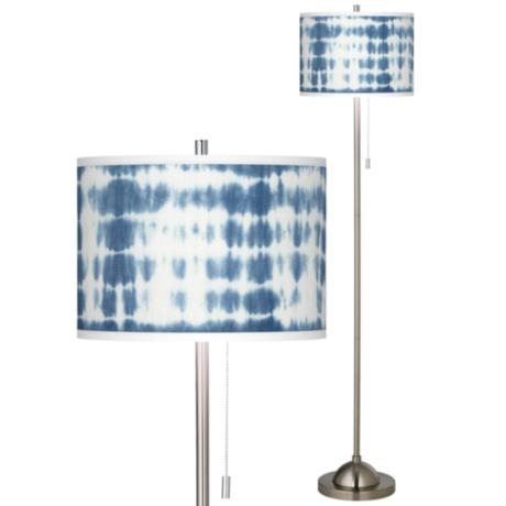 shibori surf brushed nickel pull chain floor lamp 99185 9p913 www. Black Bedroom Furniture Sets. Home Design Ideas