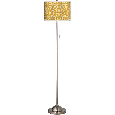 Stacy Garcia Lemongrass Florence Giclee Brushed Steel Floor Lamp