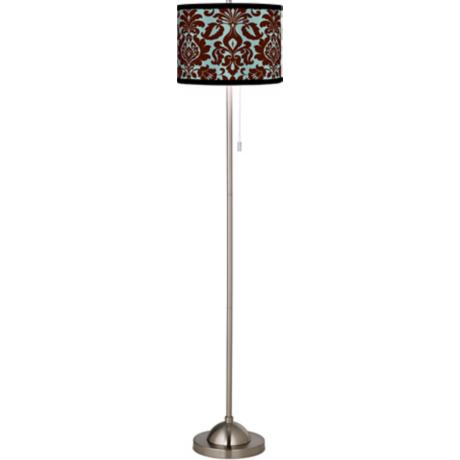 Stacy Garcia Kiwi Tini Florence Giclee Brushed Steel Floor Lamp