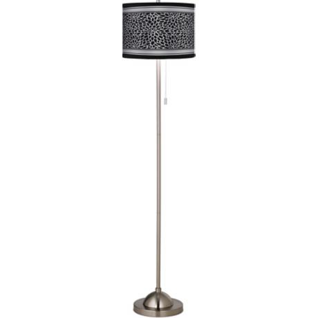 Stacy Garcia Metropolitan Dahlia Giclee Brushed Steel Floor Lamp