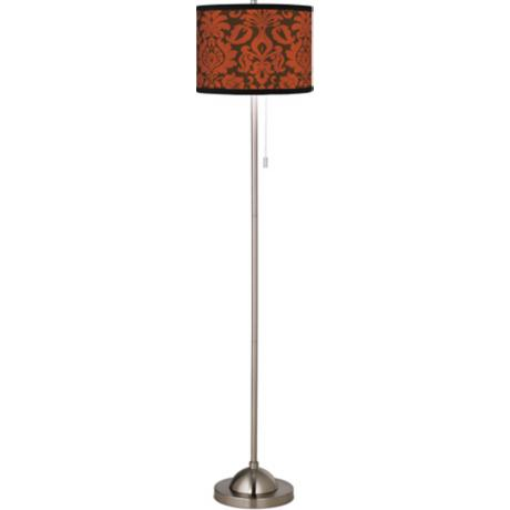 Stacy Garcia Spice Florence Giclee Brushed Steel Floor Lamp