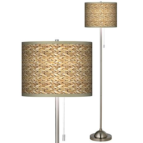 Seagrass Giclee Shade Floor Lamp
