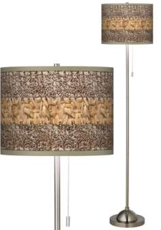 Woven Fundamentals Giclee Shade Floor Lamp