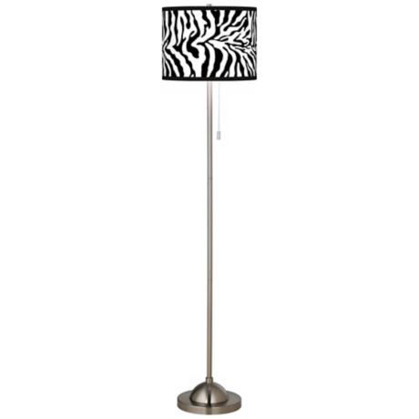 Safari Zebra Giclee Shade Floor Lamp