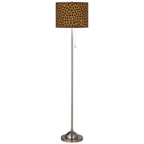 Safari Cheetah Giclee Shade Floor Lamp