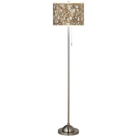 Organic Nest Giclee Contemporary Floor Lamp