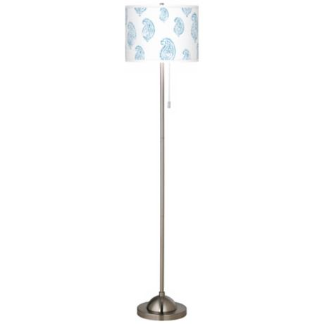 Paisley Snow Giclee Contemporary Floor Lamp