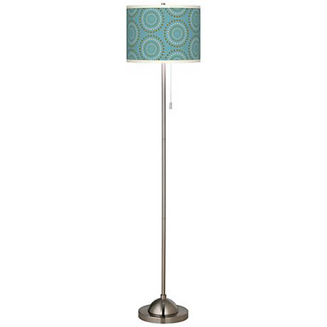Blue Calliope Giclee Shade Floor Lamp