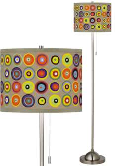 Marbles in the Park Brushed Nickel Floor Lamp