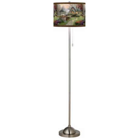 Thomas Kinkade Make a Wish Cottage Giclee Shade Floor Lamp