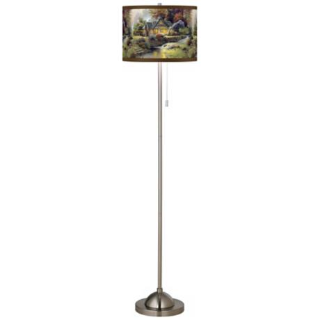 Thomas Kinkade Stillwater Cottage Giclee Shade Floor Lamp