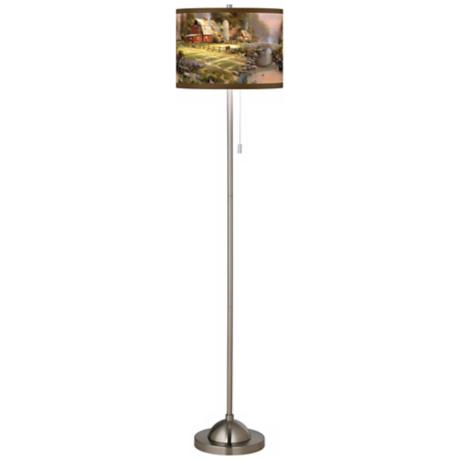 Thomas Kinkade Sunset at Riverbend Farm Giclee Shade Floor Lamp
