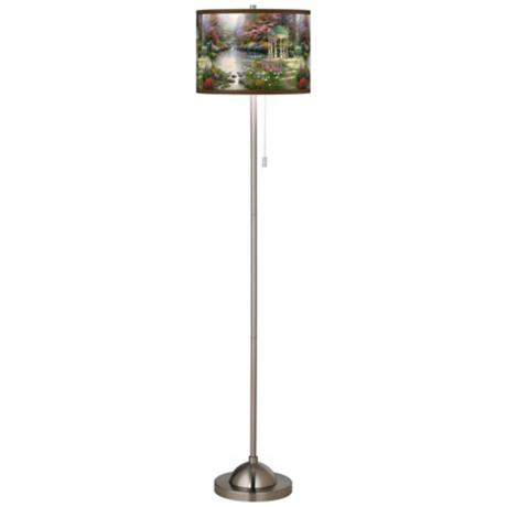 Thomas Kinkade The Garden of Prayer Nickel Floor Lamp