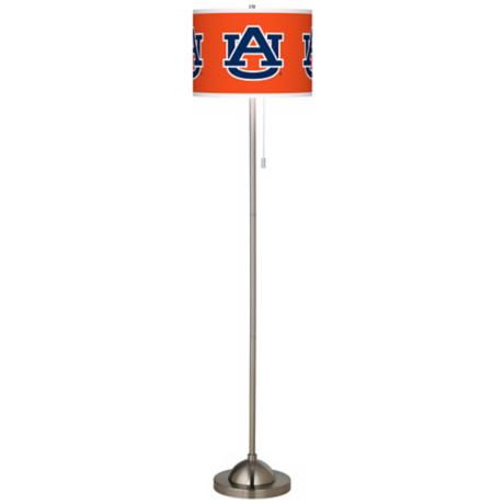Auburn University Brushed Nickel Floor Lamp