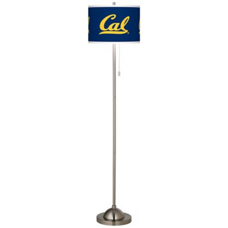 University of California Berkeley Brushed Nickel Floor Lamp