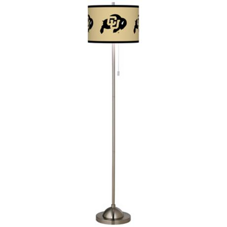 University of Colorado Brushed Nickel Floor Lamp