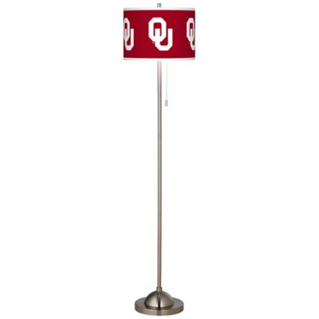The University of Oklahoma Brushed Nickel Floor Lamp
