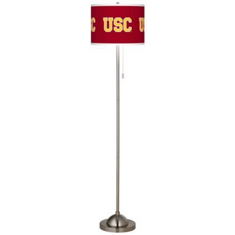University of Southern California Brushed Nickel Floor Lamp