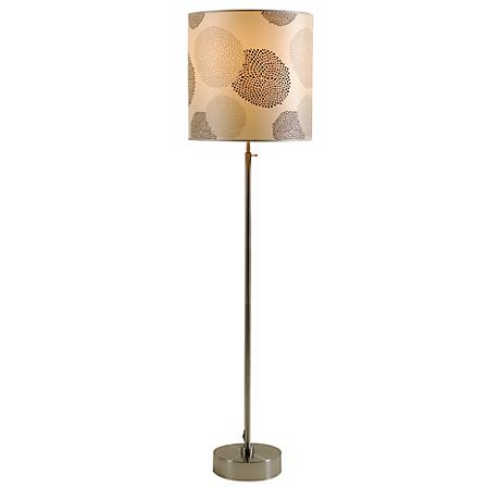 Lights Up! CanCan 2 Adjustable Black Mumm Shade Floor Lamp