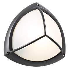"PLC Bronze Finish 10"" Wide Ceiling or Wall Outdoor Light"