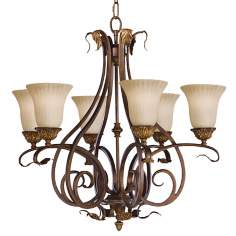 Sonoma Valley Collection Six Light Iron Chandelier