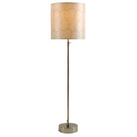 Lights Up! CanCan 2 Adjustable Circles Shade Floor Lamp
