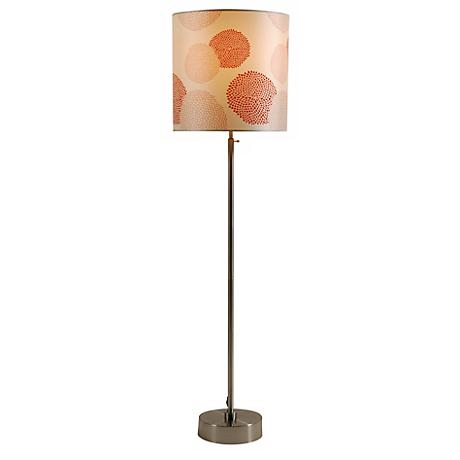 Lights Up! CanCan 2 Adjustable Red Mumm Shade Floor Lamp