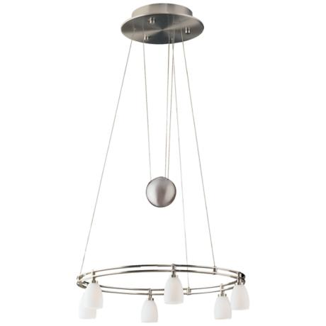 Holtkoetter Six Light Satin Nickel Chandelier