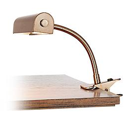 Tube Gooseneck Bronze Clip-On Lamp