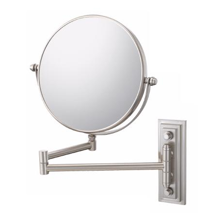 Brushed Nickel Finish Classic Double Arm Wall Mirror