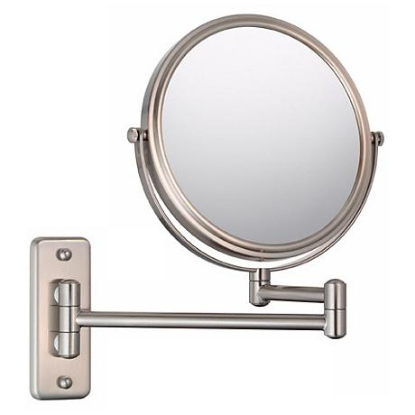Aptations Brushed Nickel 5X Magnification Vanity Mirror