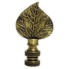 Mini Aspen Leaf Antique Metal Finial