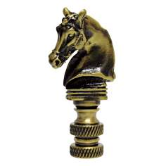 Horse Head Antique Brass Finial