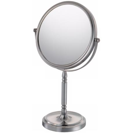 Aptations Brushed Nickel Recessed Base Vanity Stand Mirror