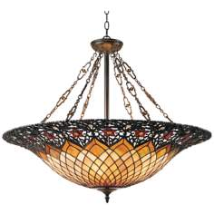 Adriana Vintage Bronze Six Light Pendant Chandelier