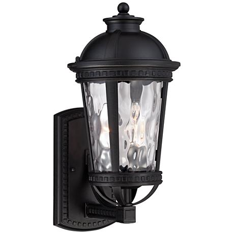 "John Timberland Provence 15""H Black Outdoor Wall Light"