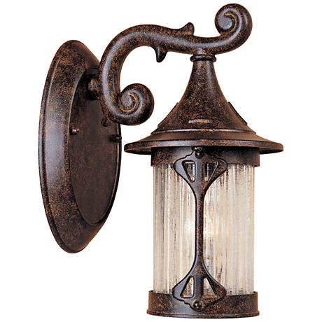 "Canyon Lake 10 1/2""H Tudor Chestnut Outdoor Wall Light"