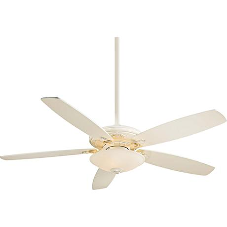 "52"" Minka Aire Traditional Mojo Bone White Ceiling Fan"