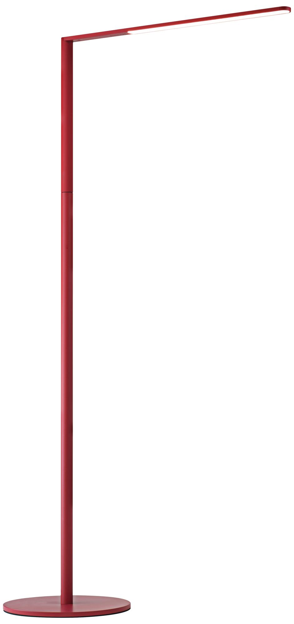 Koncept Lady-7 Matte Red LED Floor Lamp (9C383)