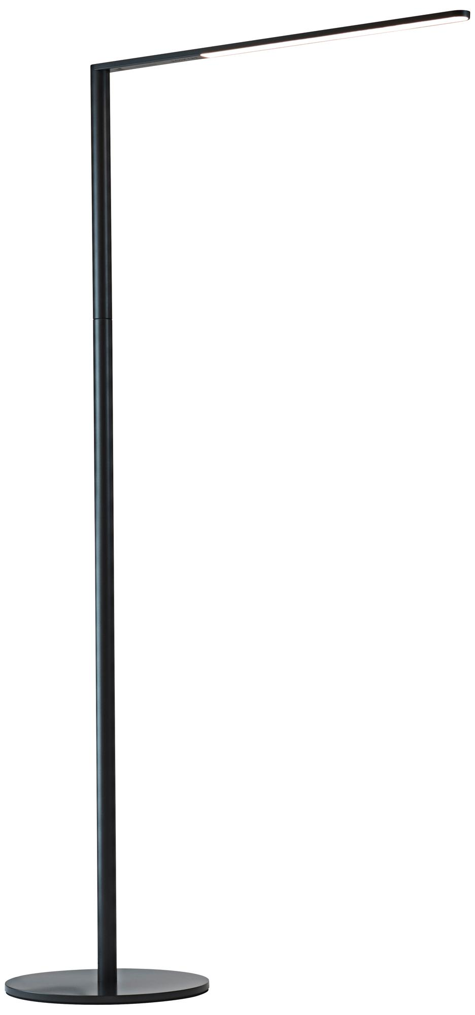 Koncept Lady-7 Metallic Black LED Floor Lamp (9C387)